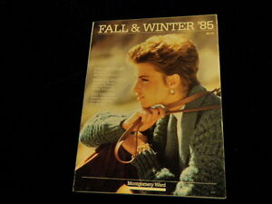 1985 Montgomery Ward Catalog Fall + Winter Fashions 292p Household Home  A60a