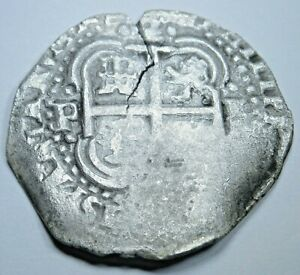 1654-Spanish-Silver-2-Reales-Shipwreck-Piece-of-8-Real-Pirate-Treasure-Cob-Coin