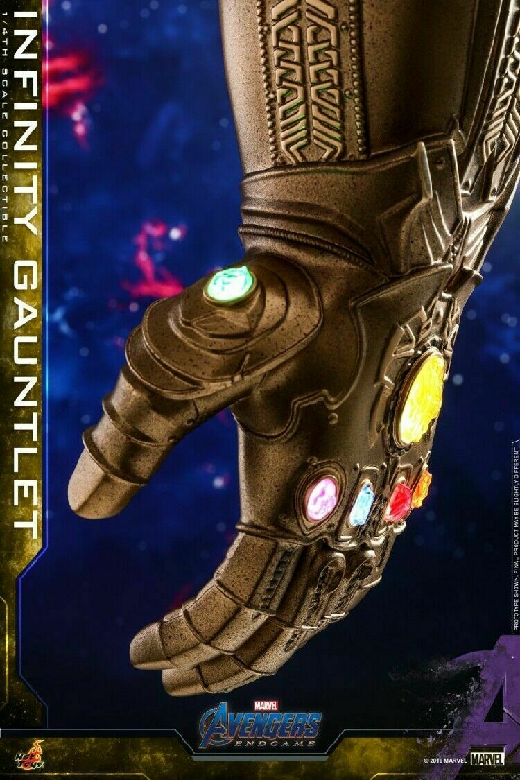 Hot Toys ACS007 1 4 Infinity Gauntlet 7  Figure Avengers Endgame LED Light Dolls