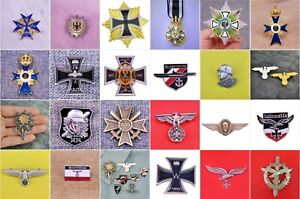 Germany-State-Prussia-DDR-Military-Medals-Orders-Replica-Badges-Pins-Third-Rich