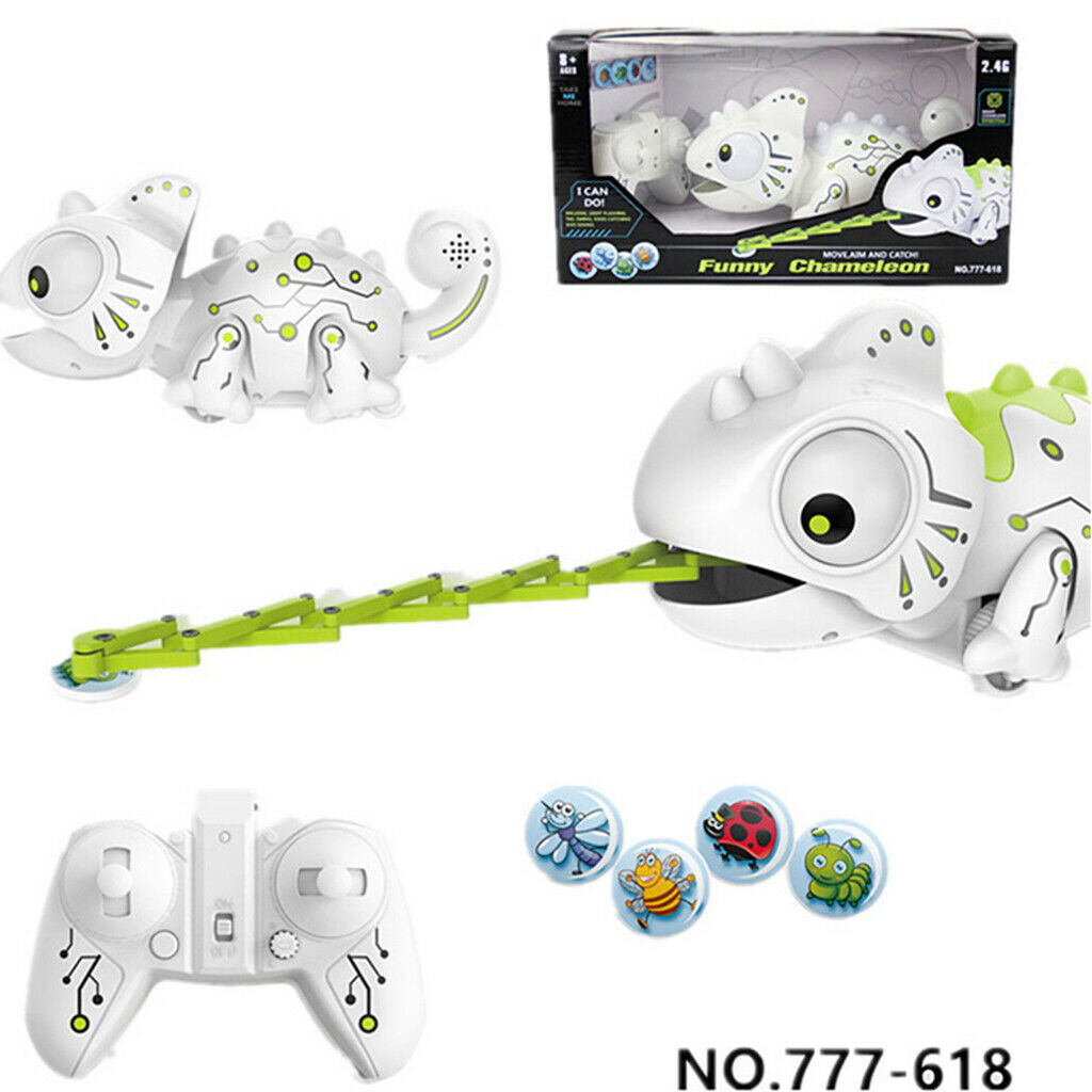 Remote Control Robotic Chameleon RC Robot Battery-Powered Electronic Pet Toy
