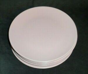 IKEA-5-Salad-Plates-Pink-8-034-Salad-Luncheon-Plates-12011-Hard-To-Find-Discontin