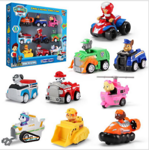 Racer-Car-Paw-Patrol-Dog-9PCS-Marshall-Rubble-Rocky-Chase-Skye-Kids-Gift-Toy