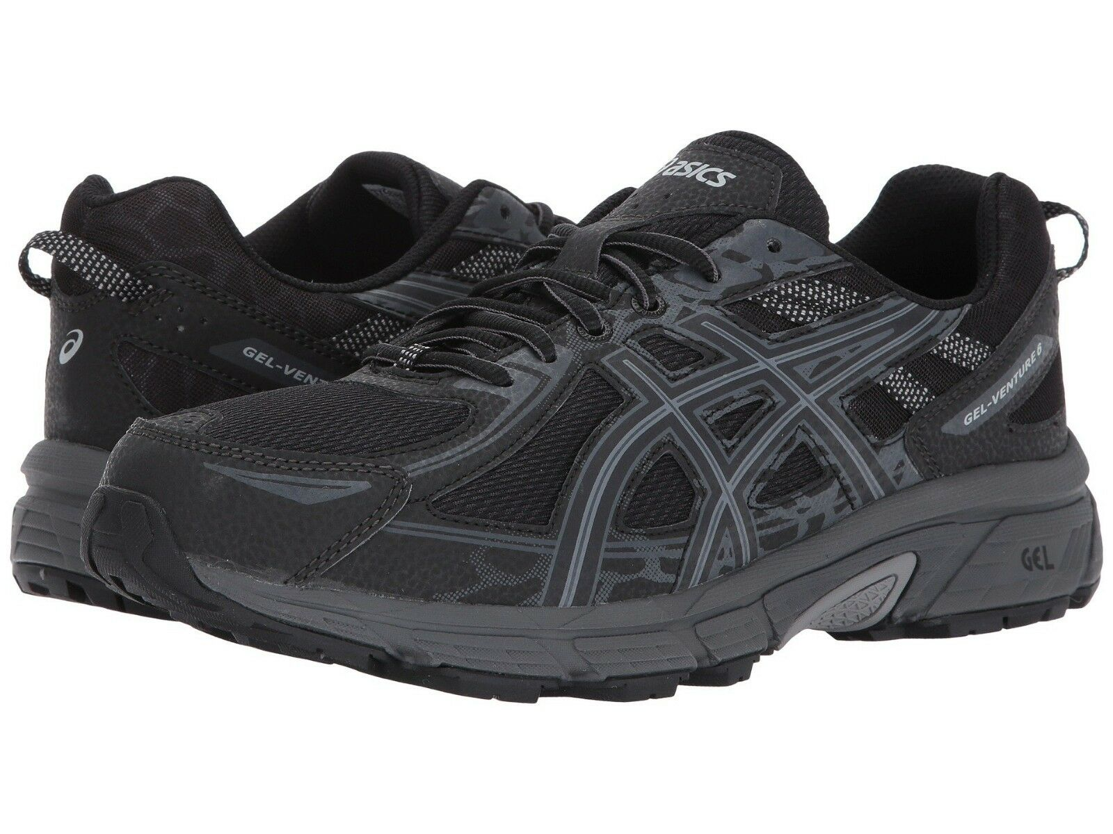Sale   NIB Men's Asics Gel Venture 6 Trail shoes Medium&4E WIDE Black Scram