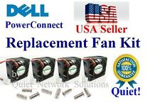 Set of 4x Quiet Version Replacement fans for Dell PowerConnect 6248 (XT800)