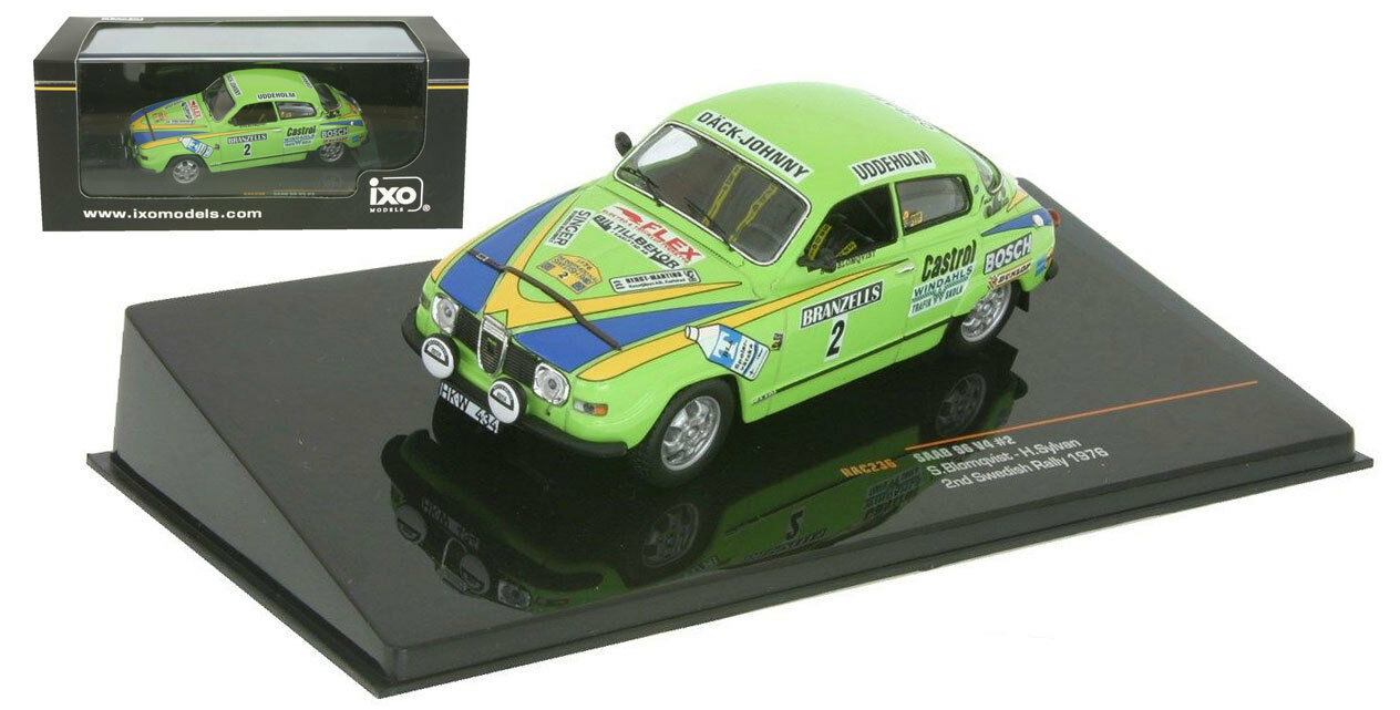 IXO RAC236 Saab 96 V4 nd Swedish Rally 1976 - Stig Blomqvist 1 43 Scale