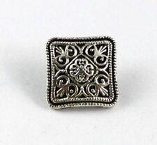 60PCS Tibetan silver floral square button beads FC15360