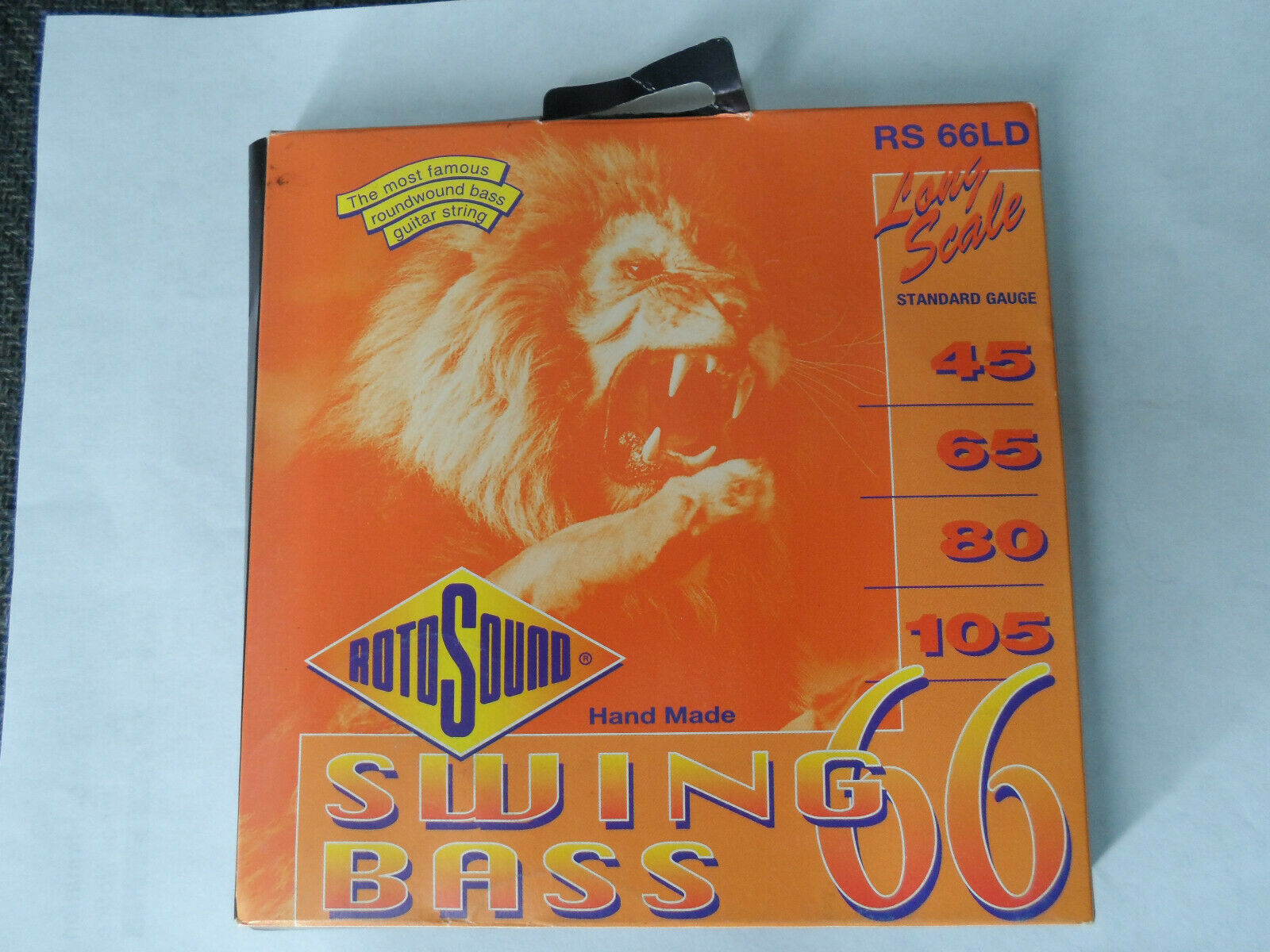 Vintage Rotosound RS 66LD Swing Bass Octave Eight Strings 32-34 In.Genesis