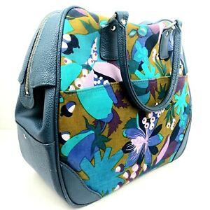 Vintage-Samsonite-Saturn-Floral-Tote-Bag-Luggage-Suitcase-Carry-On