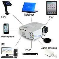 Mini Home Cinema Theater 1080P HD Multimedia USB LED Projector AV TV VGA HDMI S
