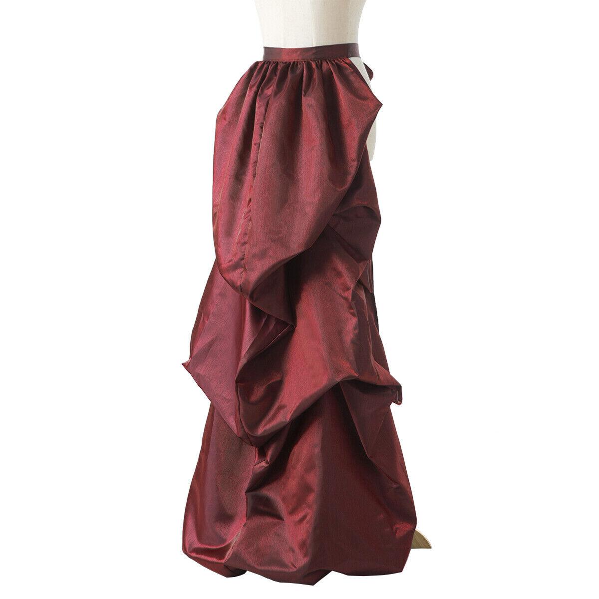 Vintage Victorian Edwardian Bustle Skirt Fancy Dr… - image 3