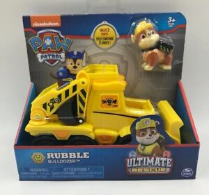Nouveau-Paw-Patrol-Ultime-sauvetage-decombres-camion-benne-Nickelodeon-Bulldozer