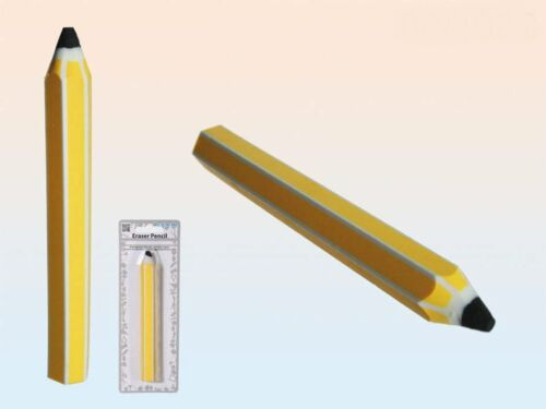 Radiergummi Radierer Bleistift Schulradierer gelb Riesenradiergummi  NEU