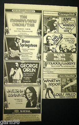 Springsteen Weather Report  Muddy Waters Willie Dixon  Concert  Ad 1974 NY