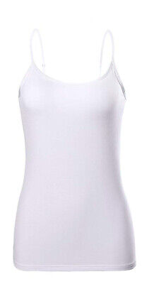 Women/'s Basic Spaghetti Strap Cami Camisole Tank Top Layering Plain Colors