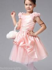 Pageant style Princess Dress Flower Girl Wedding Birthday Party  90 cm Size 2T