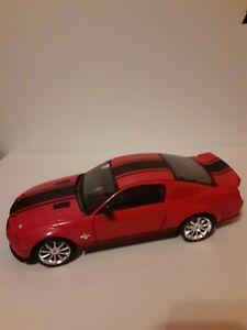 """SHELBY COLLECTIBLES 2008 FORD MUSTANG GT500 """"SUPER SNAKE"""" 1/18 RED/BLACK (Read)"""