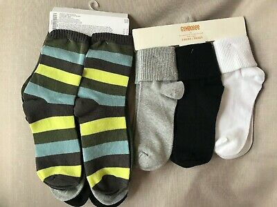 New boys GYMBOREE gray /& green argyle socks Size small Shoes size 11-12