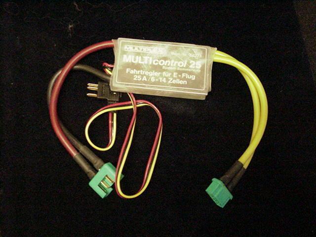 Multi-Control 25 Fahrregler E.-Flug,  Flugregler 7,2 - 16,8V. 25A. MPX LP-7 2223  | Qualitätsprodukte