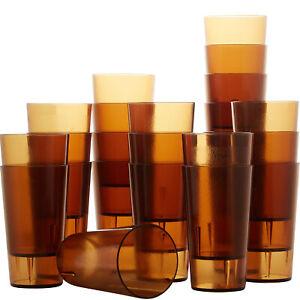 12 Oz Pebbled Plastic Tumblers Set, Shatterproof Drinking Glasses by Avant Grub