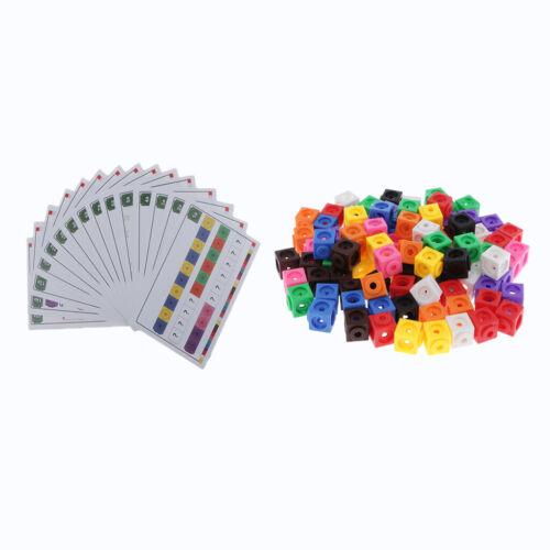 15pcs Cartes Jouet Educatif de Montessori 100 pièces Jeux de Construction