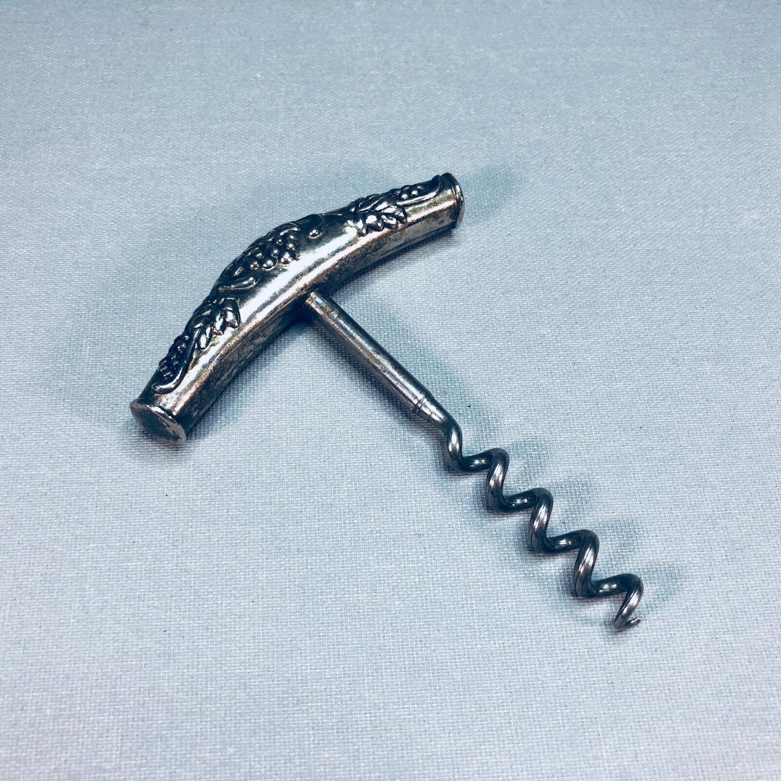 Argenté-TIRE-BOUCHON-CORKSCREW - Bouchons Gratter-B  env. 7,8 cm