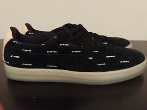 low priced d150c 51378 Details about Puma Suede V2 Puma X Pink Dolphin Men's Black Caramel Size 11