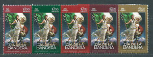 Mexico Mail 2021 Yvert 3237/41 MNH Day of The Flag