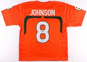 988f88292f60 Image is loading Duke-Johnson-Signed-Miami-Hurricanes-Jersey-Beckett-COA-