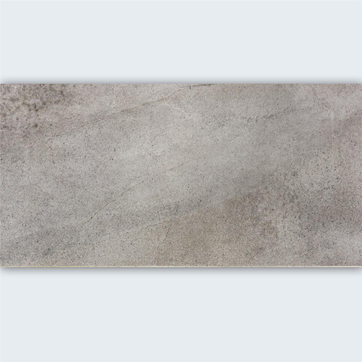 Bodenfliese Feinsteinzeug Padua Grau 30x60cm