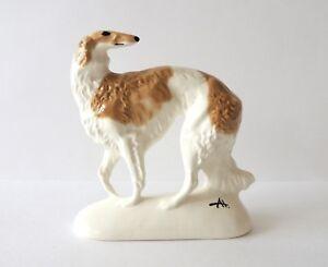 Borzoi Russian graceful Author/'s Porcelain figurines NEW