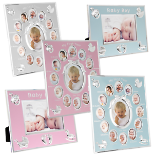 Baby-Photo-Picture-Frame-Scan-Boy-Girl-First-Year-Home-Nursery-Deco-Gifts