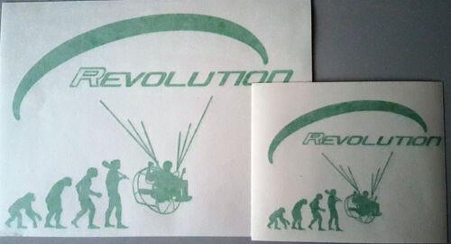 2 x paramoteur Révolution PPG pied Lauch parapente Vinyl Decal Sticker