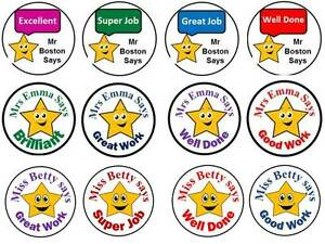 teacher stickers  70 Personalised Reward Teacher Stickers Star 3 FOR 2 Labels Well ...