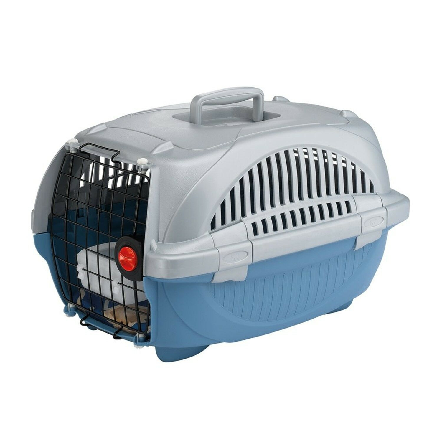 Ferplast Atlas Deluxe 20 Cat and Dog Carrier, 37.4 x 57.6 x 33 cm, bluee