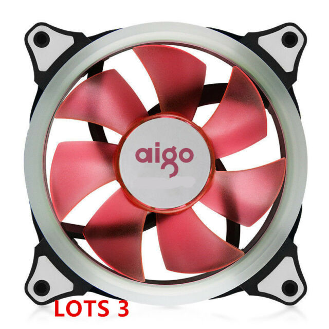 3 X PINK LED 120mm CPU Computer Case Cooling Neon Quite Clear 4 Pin Fan Mod