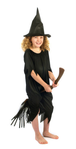BLACK  WITCH HALLOWEEN COSTUME FANCY DRESS  REDUCED SMALL age 4-6 TO CLEAR