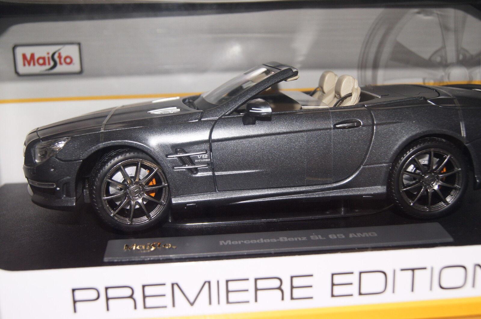Mercedes SL AMG 65 Cabrio 2012 matt grau 1 18 Maisto neu & OVP