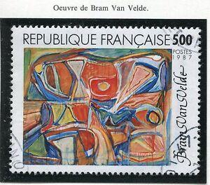 TIMBRE FRANCE OBLITERE N° 2473 TABLEAU BRAM VAN VELDE / Photo non contractuelle