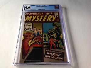 JOURNEY INTO MYSTERY 74 CGC 4.0 WAX MUSEUM STEVE DITKO JACK KIRBY MARVEL COMICS