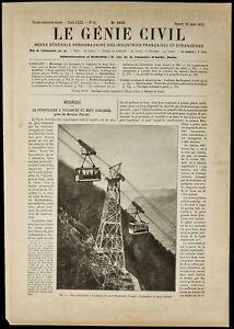 Motivated 1913 The Funicular Car Set Mount Kohlerer Tyrol Easy To Use
