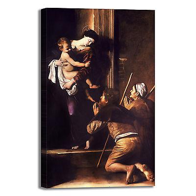 Caravaggio Madonna del rosario quadro stampa tela dipinto telaio arredo casa