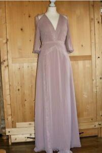 Kleid Abendkleid Damen ASOS Größe 38 Spitze Plissee Rose ...