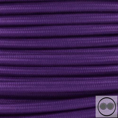 Textilkabel Farbe Lila 2 adrig 2 x 0,75 mm² rund Stoffkabel Meterware