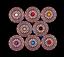 10X Vintage Copper Beauty Art Flower Carved Leathercraft Belt Turquoise Conchos