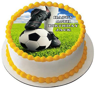 7.5 FOOTBALL EDIBLE ICING BIRTHDAY CAKE TOPPER