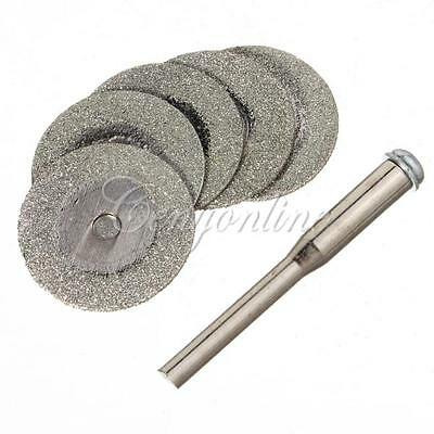 """5X 20mm 1/8"""" Diamond Coated Rotary Cutting Discs Blades for Jewelry   Tools"""