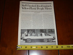 1980-BRIGGS-AND-STRATTON-ELECTRIC-HYBRID-6-WHEEL-VEHICLE-CAR-ORIGINAL-ARTICLE