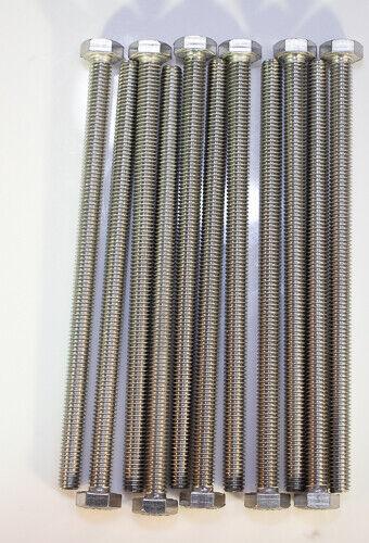 M6 X 1.0 X 100mm Stainless steel hex head metric 10pcs