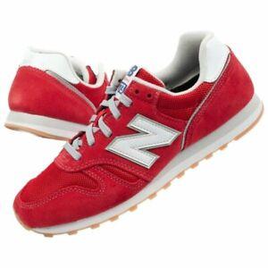 Dettagli su Scarpe sportive uomo tempo libero NEW BALANCE in tela rosso ML373DE2